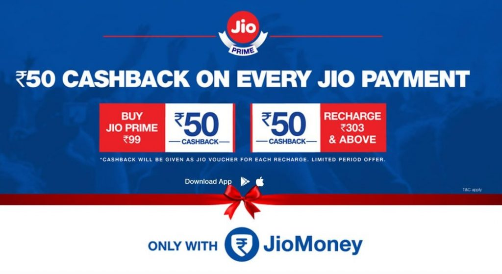Get Jio Prime Membership for ₹49 using JioMoney app 1