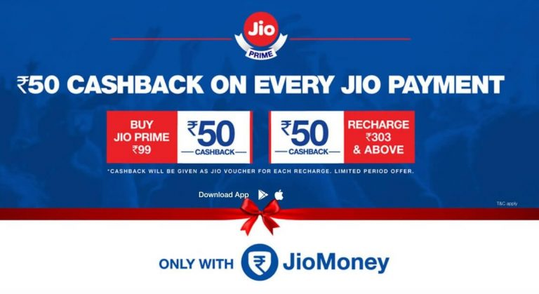 Get Jio Prime Membership for ₹49 using JioMoney app