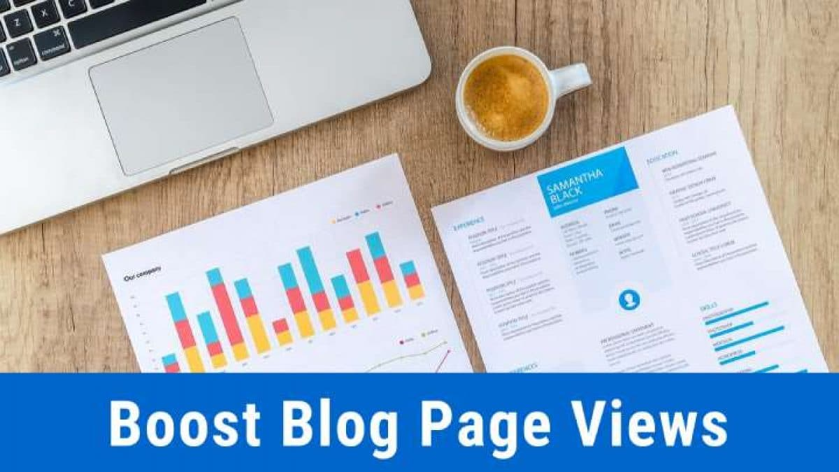 Boost blog page views
